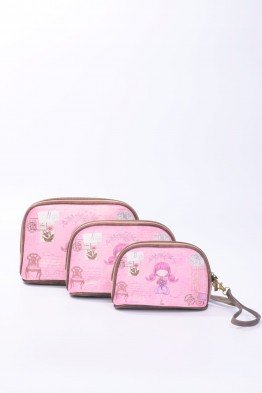 B0058 Pochette trousse lot de 3 synthétique Sweet & Candy