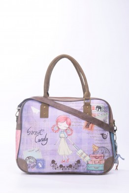 B758-4 Sac cartable porte ordinateur 15 pouces Sweet & Candy