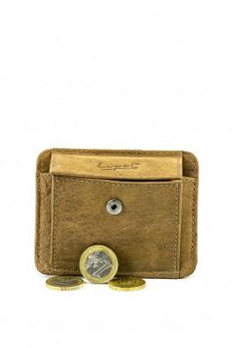 LUPEL® - L462AV-R Leather cardholder / coins purse