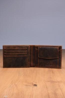 L415DE Portefeuille en cuir LUPEL® DENIM - Avec protection RFID