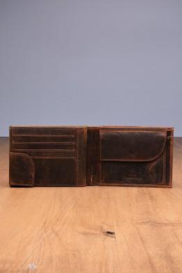 L453DE Portefeuille en cuir LUPEL® DENIM - Avec protection RFID