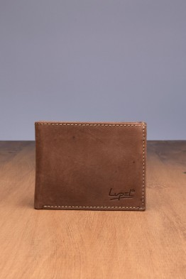 LUPEL® - L433AV-R Leather Wallet with RFID protection