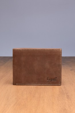 LUPEL® - L482AV-R Leather Wallet with RFID protection