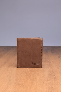 LUPEL® - L499AV-R Leather Wallet with RFID protection