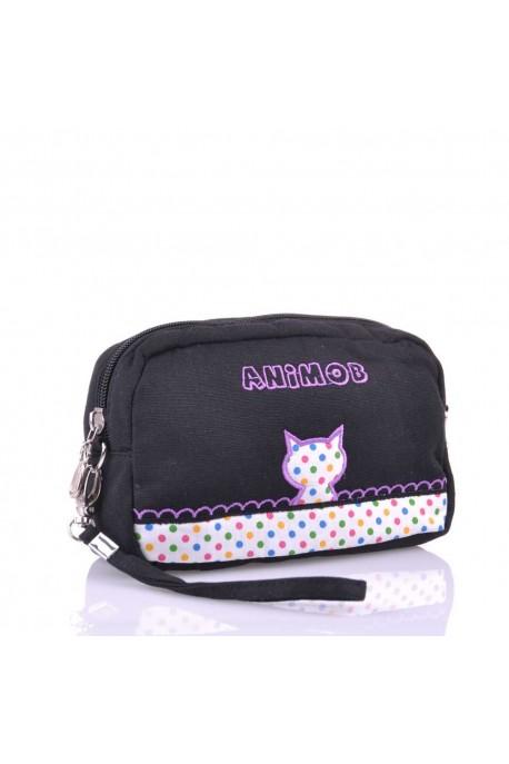 Pochette bandoulière textile Animob