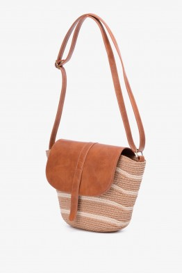 FU17152-50 Synthetic straw crossbody bag