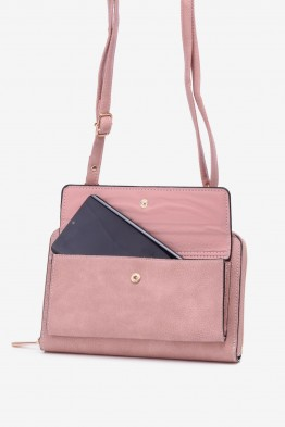 Synthetic crossbody bag for smartphone LX1103