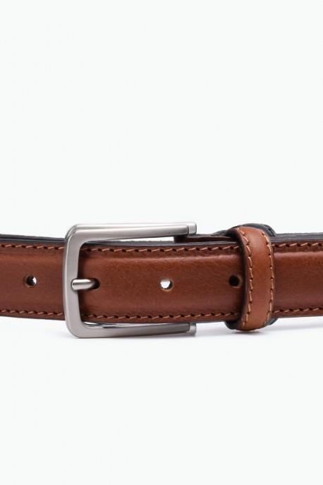 ZE-010-35 Leather Belt - Cognac