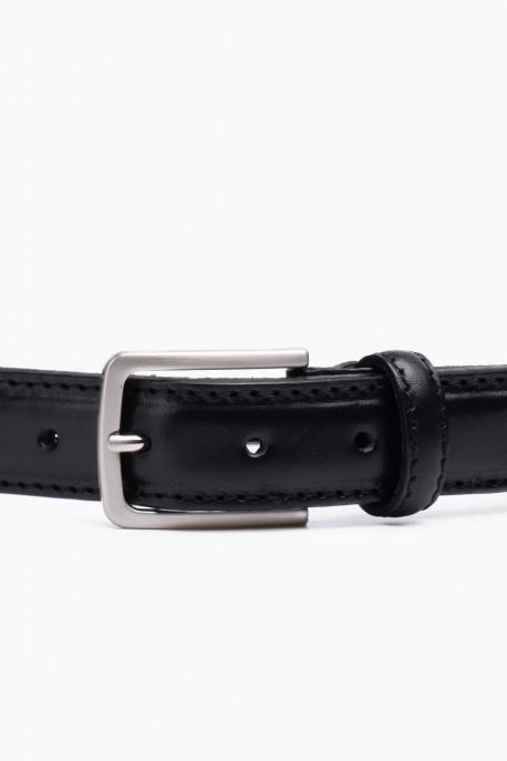 ZE-010-35 Leather Belt - Black