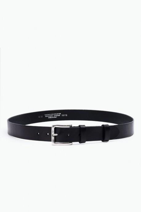 ZE-013-35 Leather Belt - Black