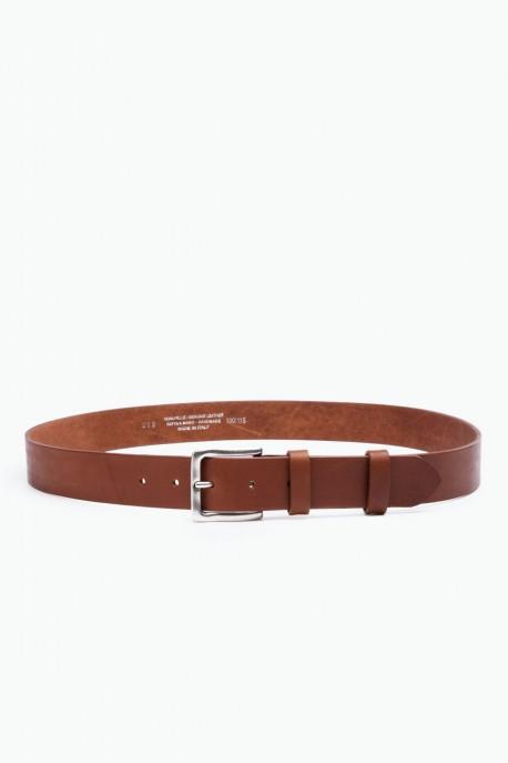 ZE-013-35 Leather Belt - Cognac