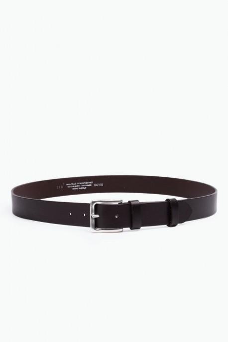 ZE-013-35 Leather Belt - Dark brown