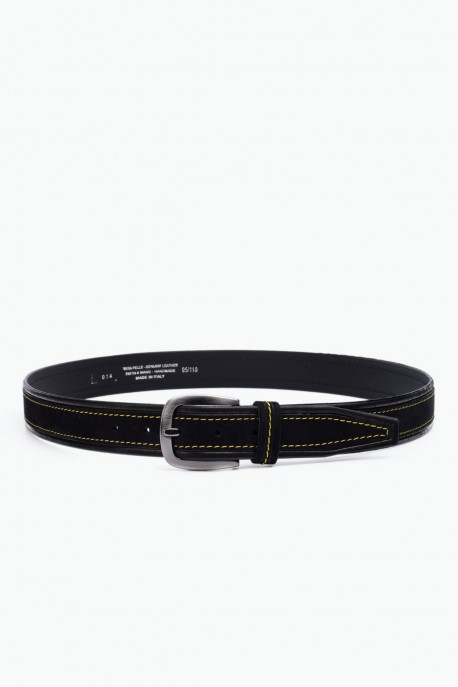 ZE-014-35 Leather Belt - Black