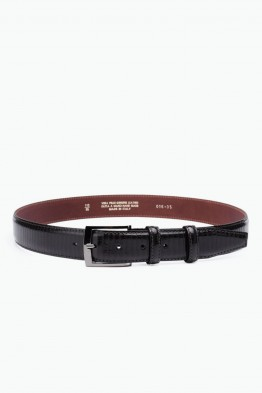 ZE-016-35 Leather Belt - Dark Brown