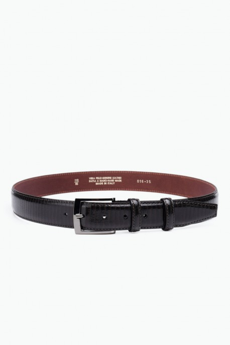 ZE-016-35 Leather Belt - Dark Brown