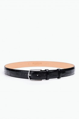 ZE-015-35 Leather Belt - Black