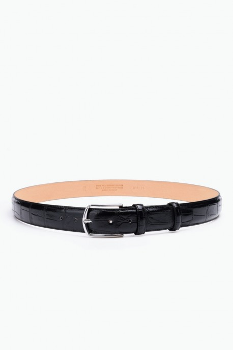 ZE-015-35 Leather Belt - Black