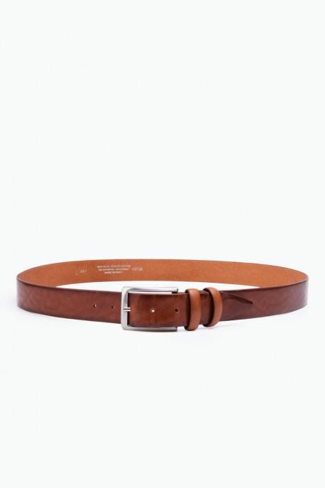 ZE-001-35 Leather Belt - Cognac