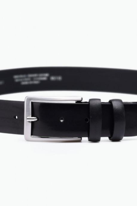 ZE-001-35 Leather Belt - Black