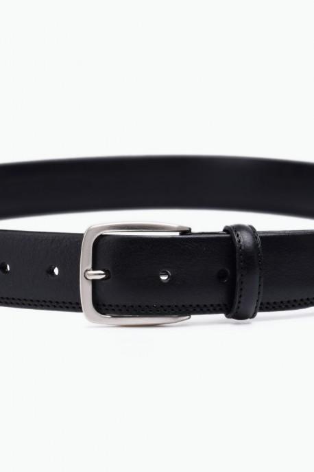 ZE-006-35 Leather Belt - Black