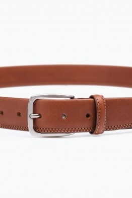 ZE-006-35 Leather Belt - Cognac