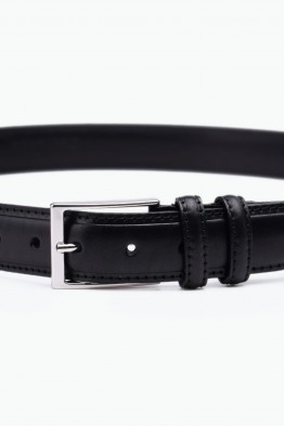 ZE-012-35 Leather Belt - Black