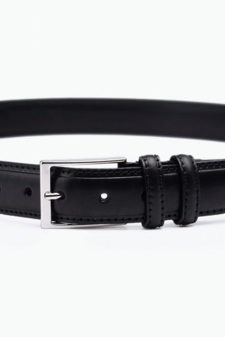 ZE-012-35 Leather Belt - Black