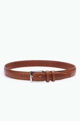 ZE-012-35 Leather Belt - Cognac