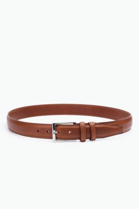 ZE-012-35 Leather Belt - Cognac