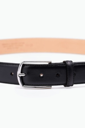 ZE-007-35 Leather Belt - Black