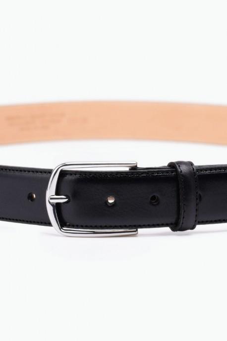 ZE-007-35 Leather Belt - Black