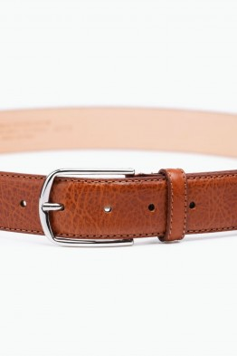 ZE-007-35 Leather Belt - Cognac