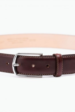 ZE-007-35 Leather Belt - Dark brown