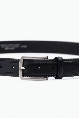 ZE-005-35 Leather Belt - Black