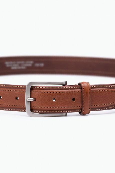 ZE-005-35 Leather Belt - Cognac