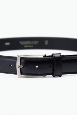 ZE-009-35 Leather Belt - Black