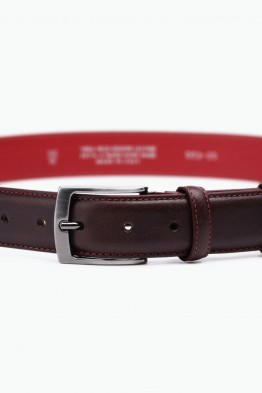 ZE-003-35 Leather Belt - Dark brown
