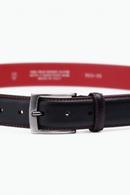 ZE-003-35 Leather Belt - Black