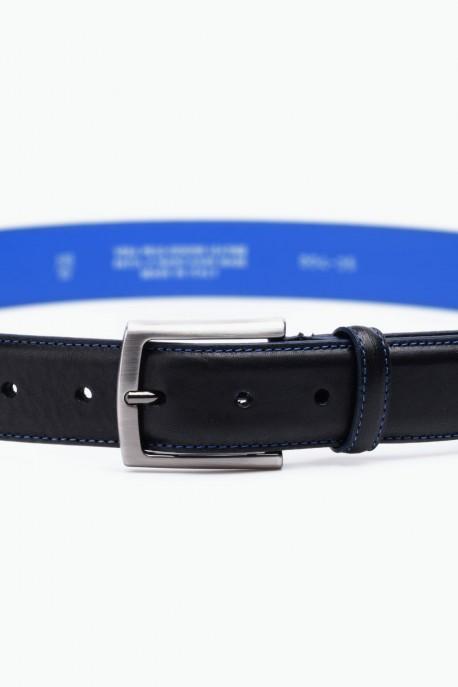 ZE-004-35 Leather Belt - Black