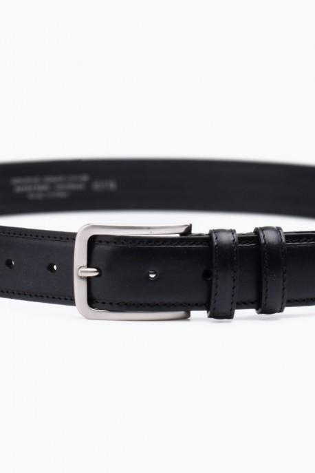 ZE-008-35 Leather Belt - Black