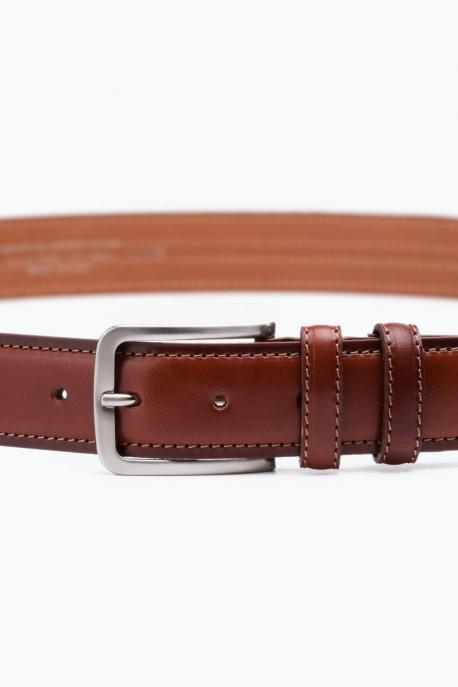 ZE-008-35 Leather Belt - Cognac