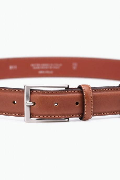 ZE-011-35 Leather Belt - Cognac