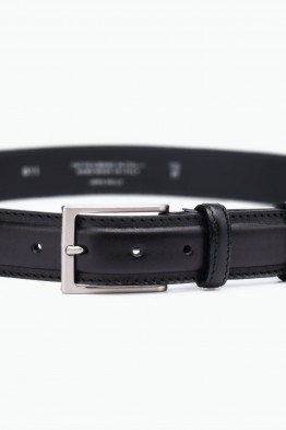 ZE-011-35 Leather Belt - Black