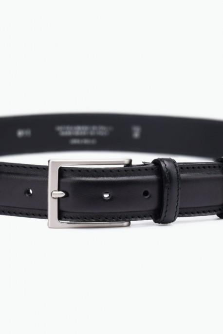 ZE-011-35 Leather Belt - Black