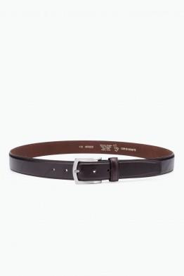 NOS028 italian Leather belt - Dark Brown