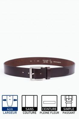F538 Leather Belt - Dark Brown