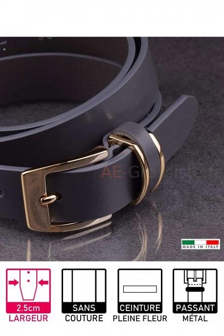 14677/25 Leather belt gris