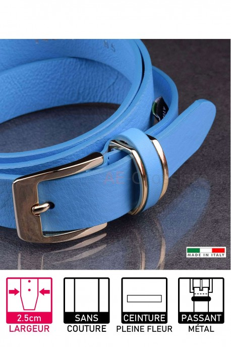 14677/25 Leather belt Blue