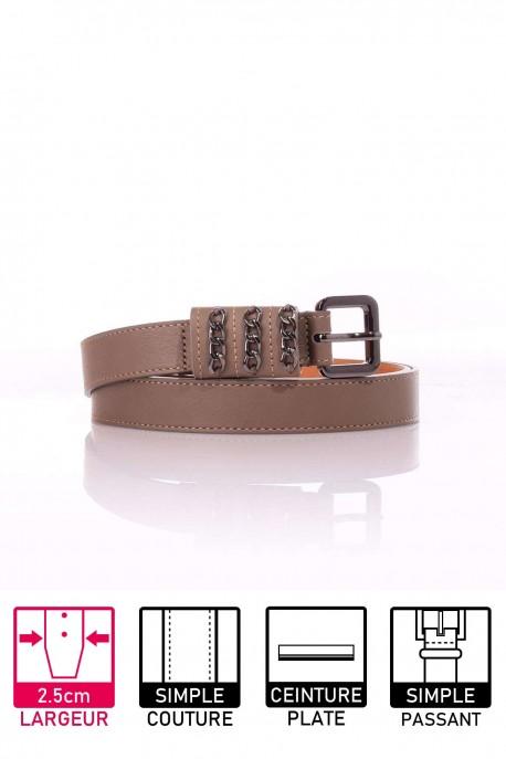23642/25 Light Brown Leather Belt