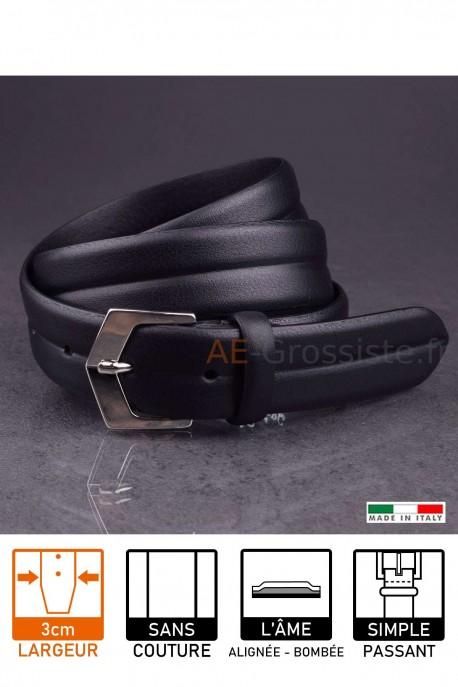 23641 Leather belt Black